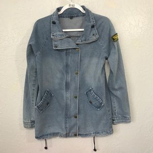 Zaful Denim Jean Jacket with Buttons and Zipper.